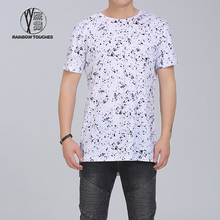Wholesale side split all over sublimation printing t-shirts for men