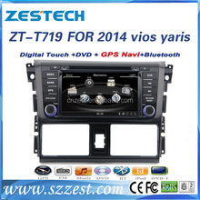factory price 2 din car dvd player For TOYOTA vios yaris 2014 support 3G audio DVB-T MP3 MP4 HDMI DVD function