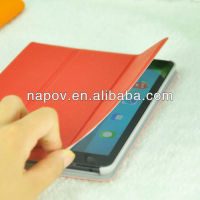 leather case for ipad mini smart cover, for fashional ipad support bags