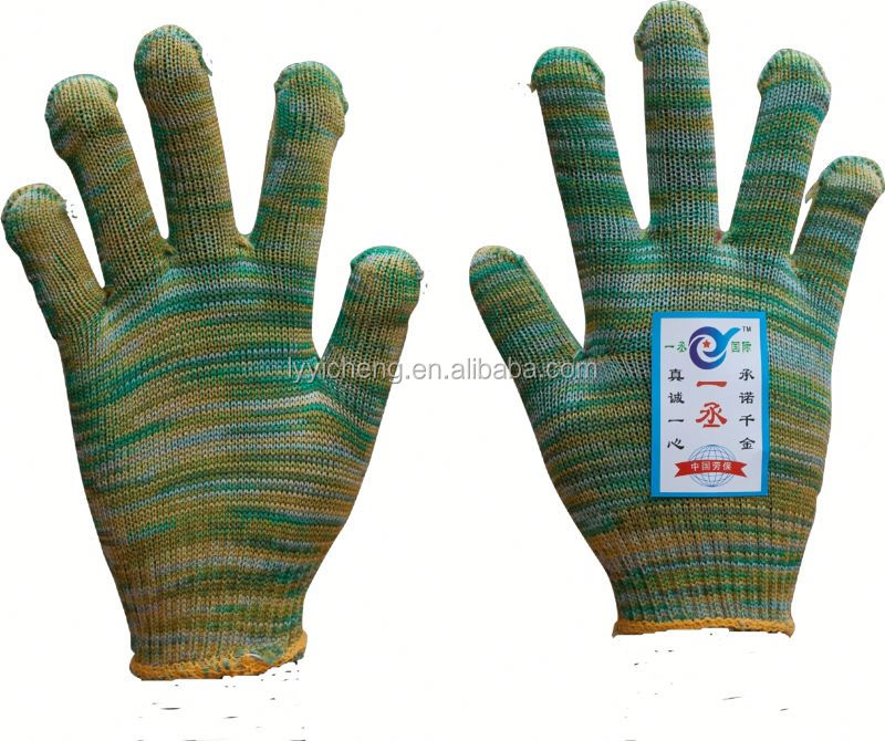 7/10 gauge white knitted cotton gloves manufacturer in china/electrical hand gloves