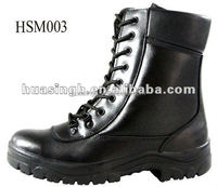 anti-riot fighting black genuine leather tactical combat boots water-proof