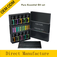 Essential Oils Top 10 Aromatherapy Premium Gift Kit 100% Pure & Therapeutic grade - 6/10 Ml