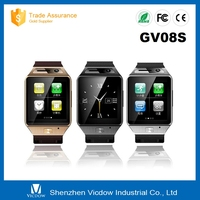 2015 New Arrive GV08S Bluetooth Smart Watch With 2.0MP Camera Support SIM Card Micro TF Card