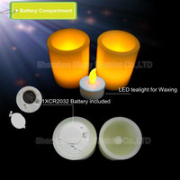 hot selling battery operated plastic wax led votive candle