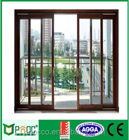 Aluminium Alloy sliding doors with triple temperred glass AS2047 AS2208 AS1288Australian standard with customized size