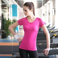 Wholesale quickdry women's tight sportswear active running fitness yoga T-shirt