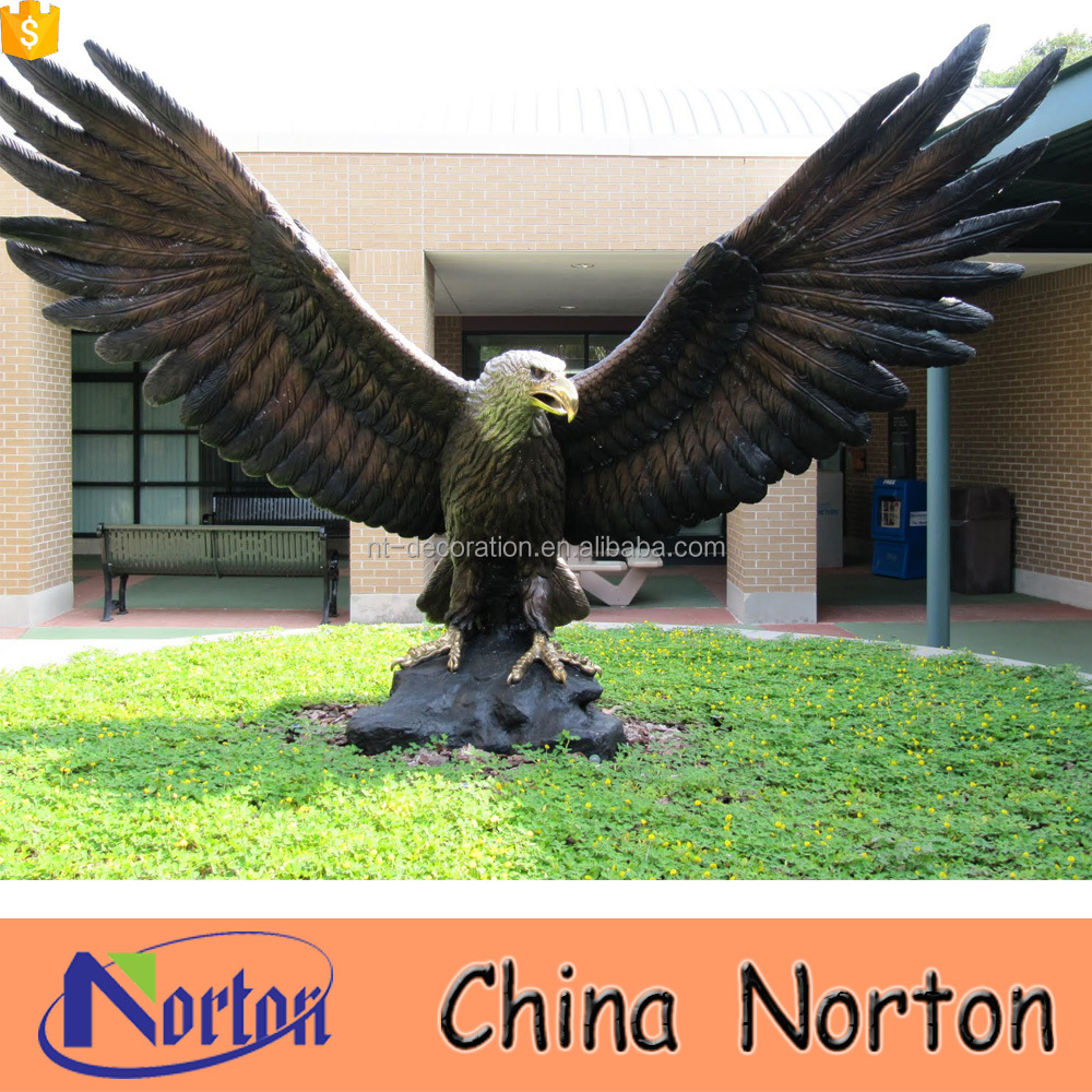 Outdoor bronze large eagle statues NTBH-D405A