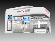 Shanghai wooden display stand design trade show exhibition booth producer