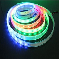 Hot WS2812B 30 leds/m SMD 5050 RGB Flexible full color pixel led strip Light 5V addressable dmx rgb led strip