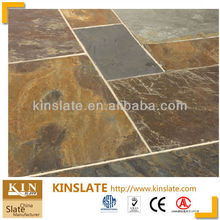 Natural Rusty Floor Slate,Muticolor Paving Slate,natural rust color slate tile