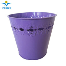 smooth effect semi gloss purple color powder coating