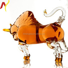 unique 750ml clear animal shaped glass bottles for gift or wine