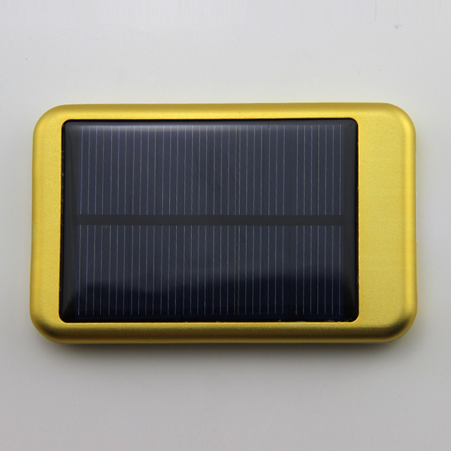 Hot style 6000 mah the output of high quality and convenient type 5 v2a solar mobile power supply