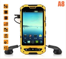 Cheap outdoor android phone 4inch IPS screen IP68 military quality MTK6572 dual sim dual standby android 4.2.2
