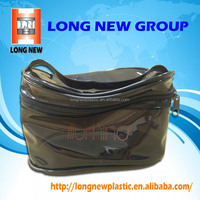 Elegant transparent black PVC zipper Pouch bag for Make Up and Cosmetics