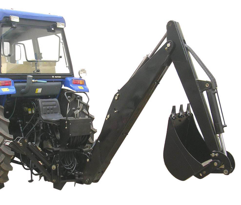 PTO Drive 3 point hitch towable backhoe LW-7 backhoe attachment for farm tractor