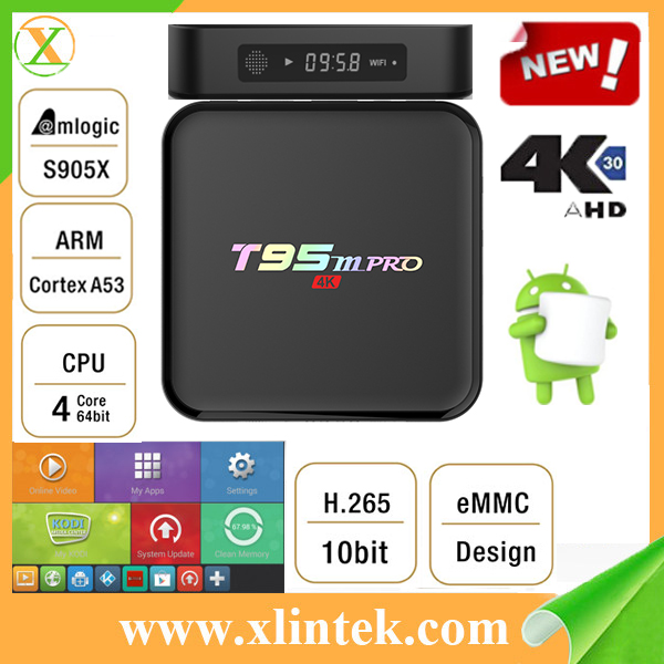 2016 New Product T95m pro s905x install free play store app google play download mqx android tv box