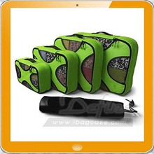 NEW 4 Set Packing Cubes Travel Organizers with Laundry Bag Green