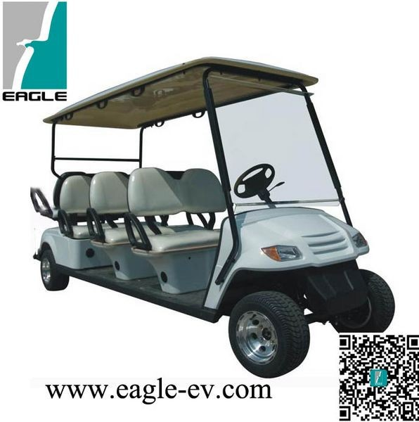 six seater solar powered golf carts-EG2069K, all front seat, laminated windshield, canopy,