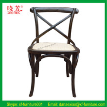 2016 Newest furniture product best quality solid wood cross back chairs (RFC06)