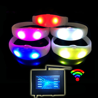 DMX Coldplay Concert Software Wireless RGB Silicone With Controller Custom Control Programmable Remote Controlled LED Bracelet