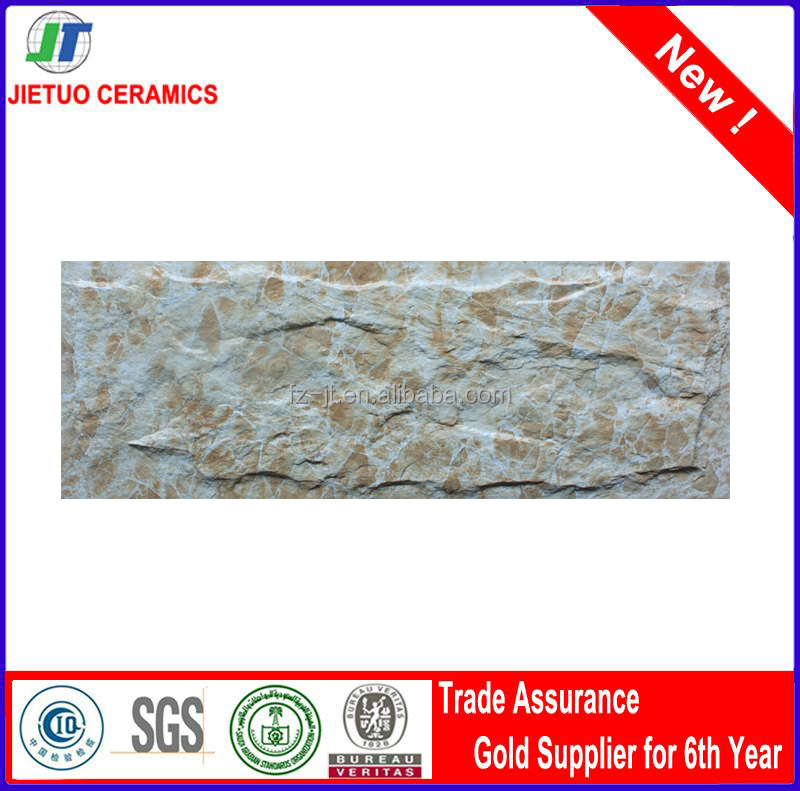 150x500mm Grade AAA 3d flooring like stone wall tiles 3d flooring exterior wall tiles