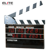 low voltage thin electric calendar small digital led table clock