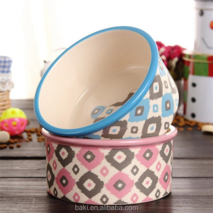 Wholesale Travel Pet Bowl Elevated Dog Bowls Ceramic Pet Bowl