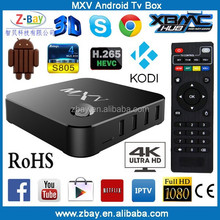 hot selling quad core internet indian tv box support H.265 decoder