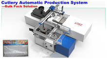 Telescopic robot arm system Automatic Flow Pillow Plastic Frozen Yogurt Spoons for Ice Cream Packing Machine
