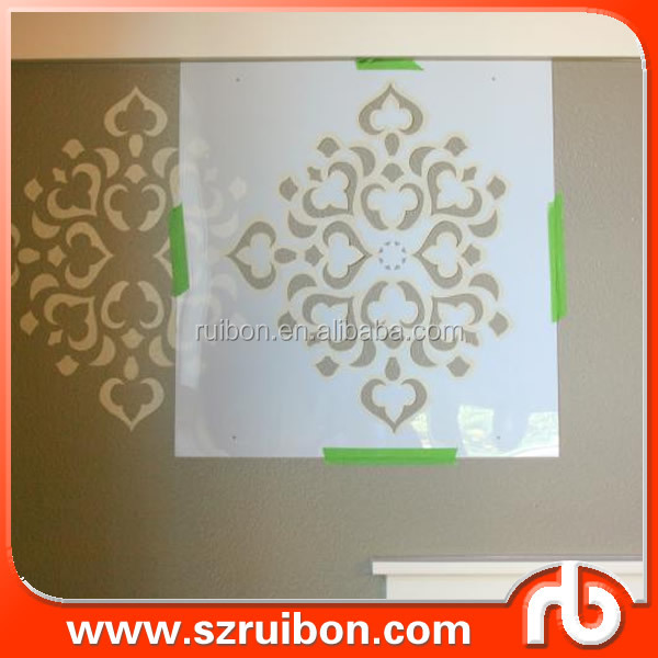 2016 Customized DIY PET Mylar wall art decor stencil made in China Plastic stencil template supplier