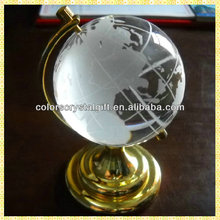 Wholesale Bulk Cheap Crystal Globe With Metal Base For Office Table Decoration