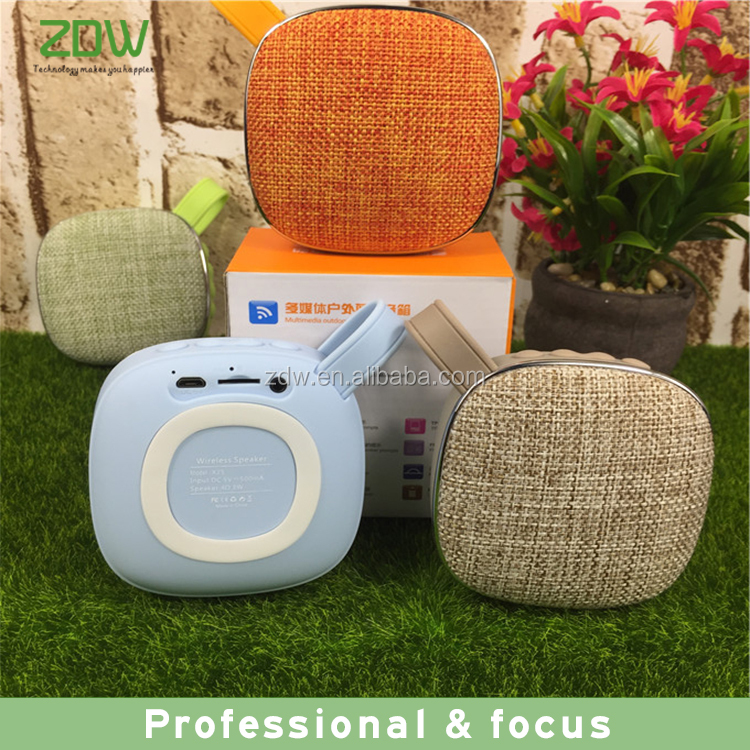 2017 alibaba good sale colorful portable wireless bluetooth speaker for iphone mini fabric bluetooth speaker for gift