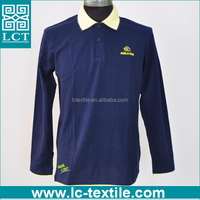 OEM service supply type 100 cotton long sleeve double collar original custom embroidery rugby polo shirt for promotion(LCTN1568)