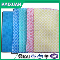 cleaning wipes raw material pearl embossed nonwoven fabric