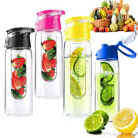700ml/24oz plastic fruit infuser water bottle bpa free best selling product 2015