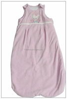 winter solf cotton pink color baby sleeping bag