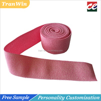 40mm tenacity stretch pink lurex woven elastic tape waist band