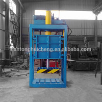 lifting chamber baler machine for scrap clothing