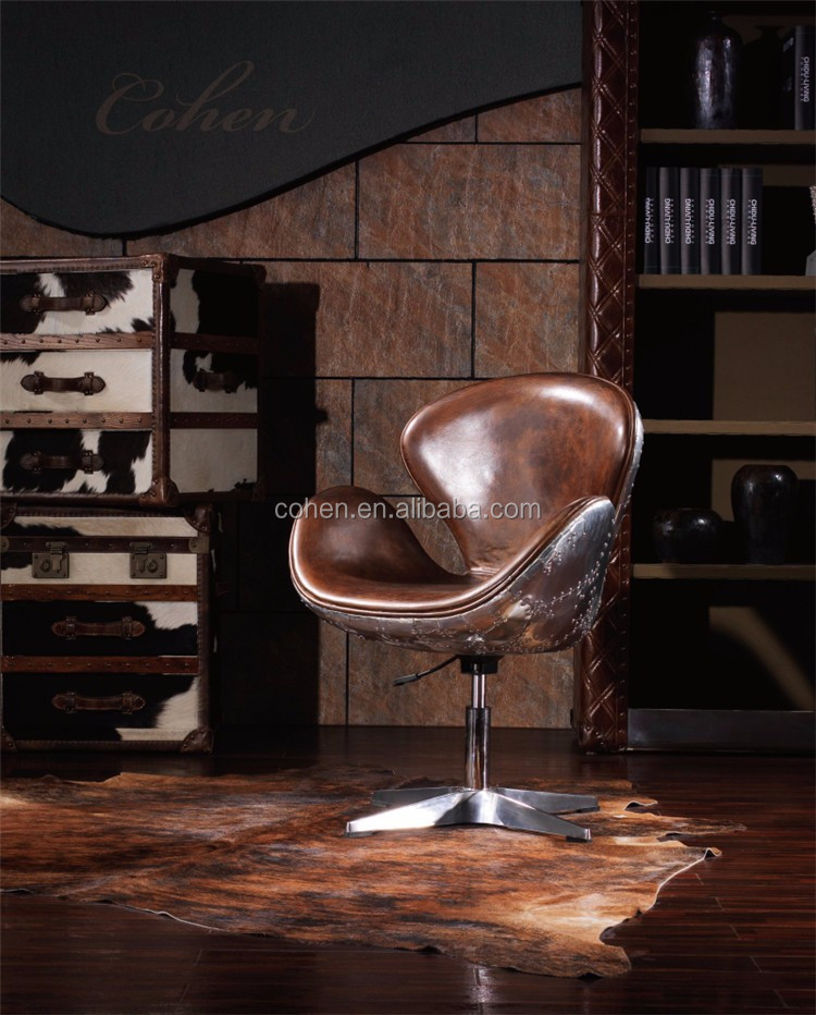 European Aviator Retro Vintage Leather Bar Chair For High End Furniture Buy Aviator Vintage