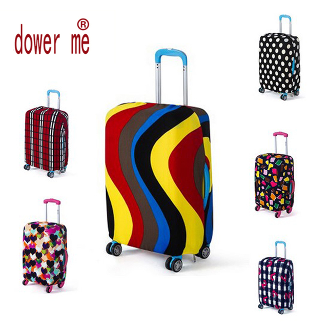 2016 Travel accessories Luggage Suitcase Protective Cover Apply 18~30 Inch Case Luggage Cover Elastic Material Print Dust-Proof