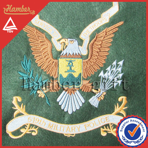 Military souvenir chenille embroidery patches