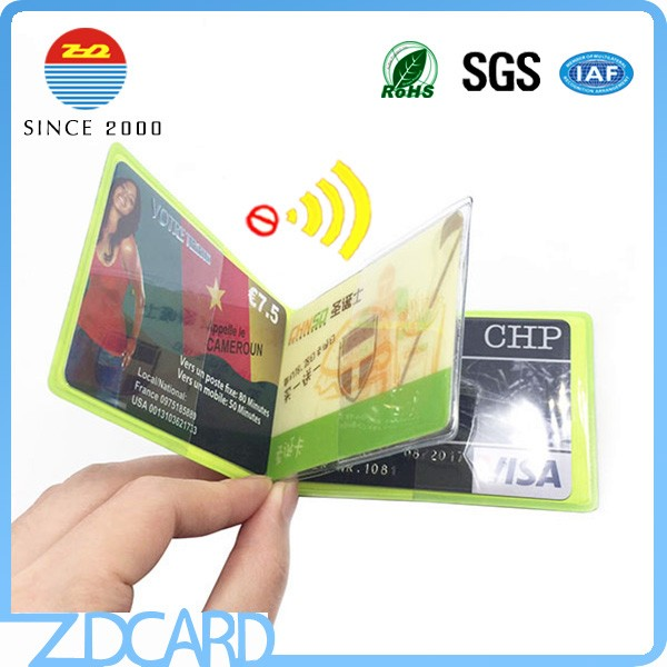Soft plastic rfid blocking credit card protector