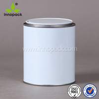 1 liter paint metal can with pry lid/ coatings tin can