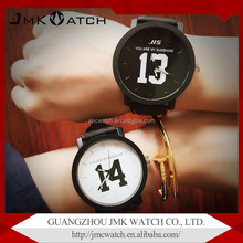 Stylish male and female student text control hot sale japan quartz watch