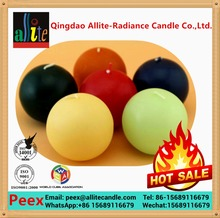 Allite ball white birthday candle with soy wax plam wax AB25