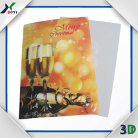 plastic 3d lenticular products notebook cover,wall picture,postcard