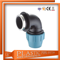 Polyethylene Compression Gas Pipe Connection Fittings