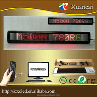 Discount! M500N-780RG(P7.62-7x80) 5VDC100-240VAC wireless led light bar LED scrolling message sign