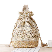 recycled natural beach straw bag summer beach bags